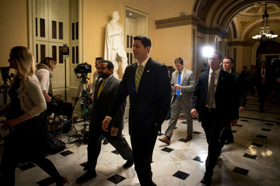 House Speaker Paul Ryan after a debate on the American Health Care Act || Gabriella Demczuk,  The New York Times
