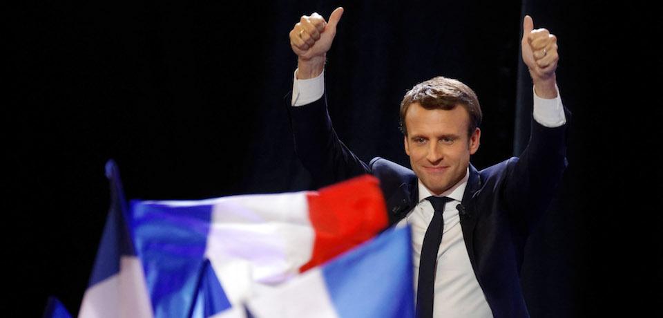 Emmanuel Macron at a rally. || Rancois Nascimbeni, AFP/Getty Images