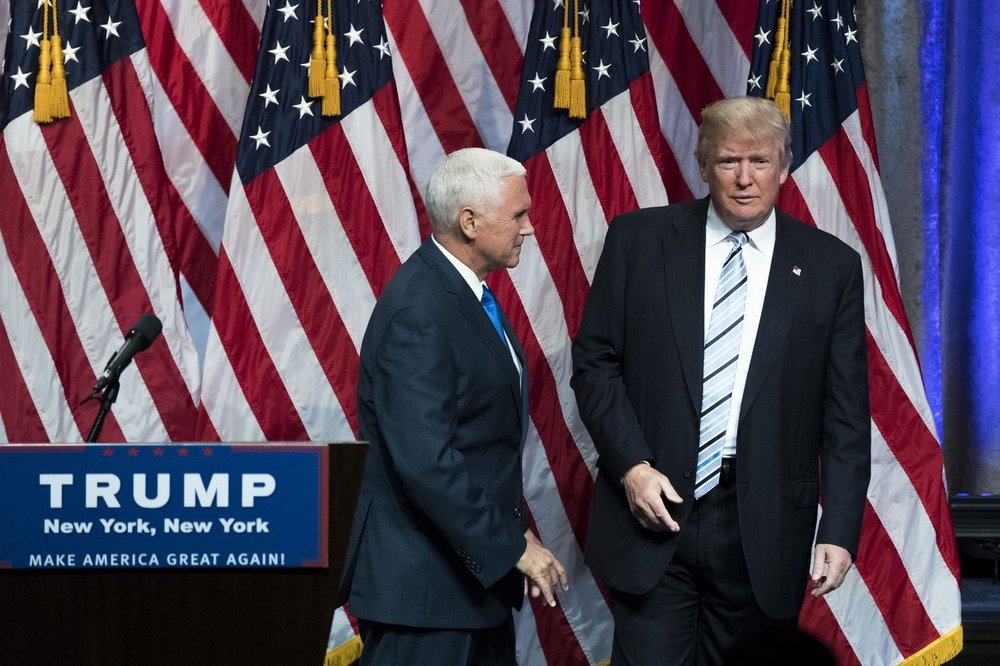 President Donald Trump and Vice President Mike Pence on the campaign trail. || Drew Angerer, Getty Images