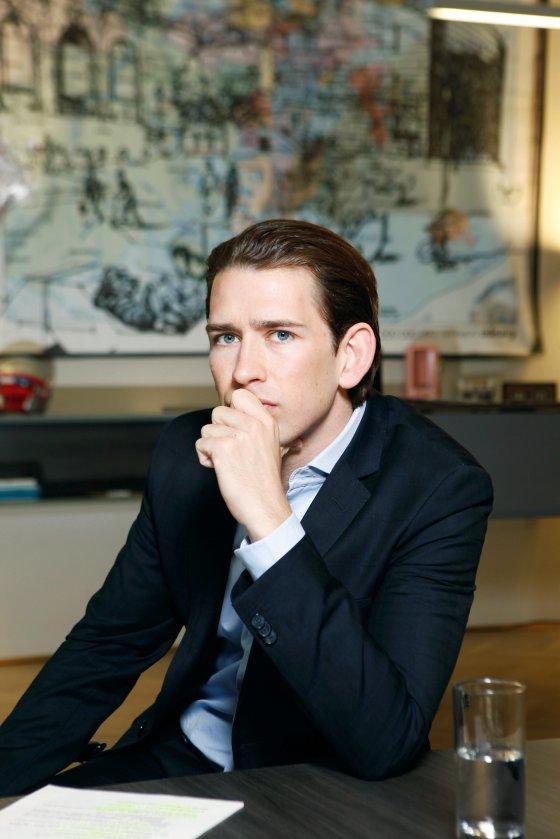 Sebastian Kurz, a 31-year-old Austrian politician. || Reiner Riedler, Anzenberger/Redux.