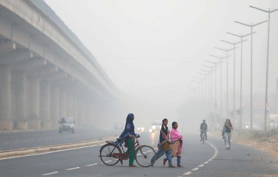 Pollution worsens in New Delhi. || Saumya Khandelwal, Reuters.