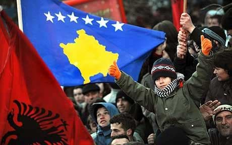 Celebrations of Kosovo's 10-year independence anniversary. || Telegraph.