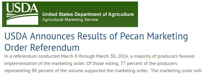 Pecan Marketing Order