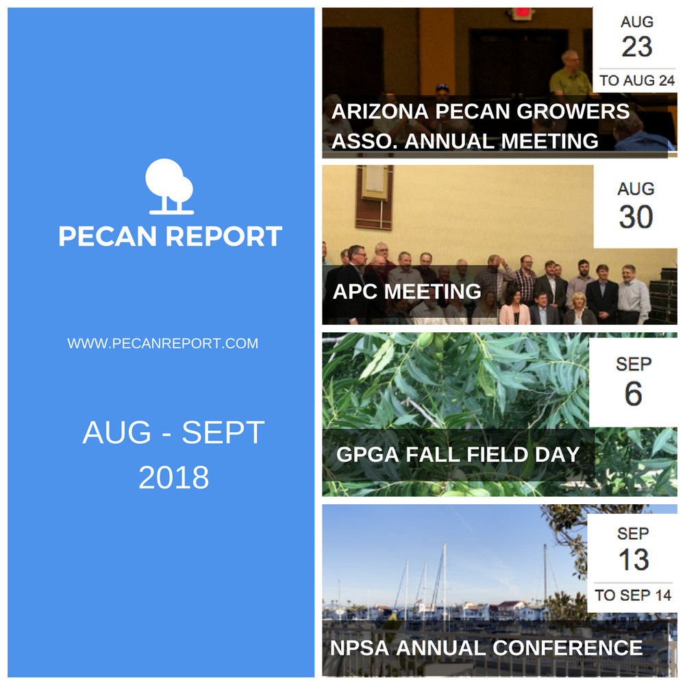 Arizona Pecan Growers Annual Conference, American Pecan Council Meeting, Georgia Pecan Growers Fall Field Day, National Pecan Shellers Association Annual Conference, Pecan Report Events, Pecan Industry Events.jpg
