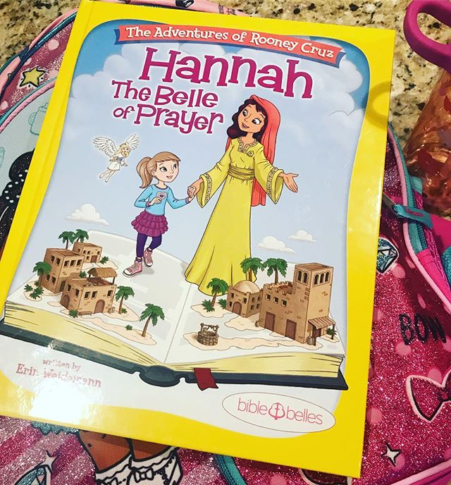 If anyone has a daughter who deals with anxiety- especially about going to school- I highly recommend this book by @biblebelles. We've been reading it all summer, and I put it in Sophia's backpack today so she would have it with her. It's a great story that teaches prayer and is very relevant for kids to understand