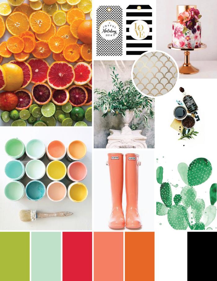 Bright Citrus Fresh Mood Board | Magnoliahouse Creative