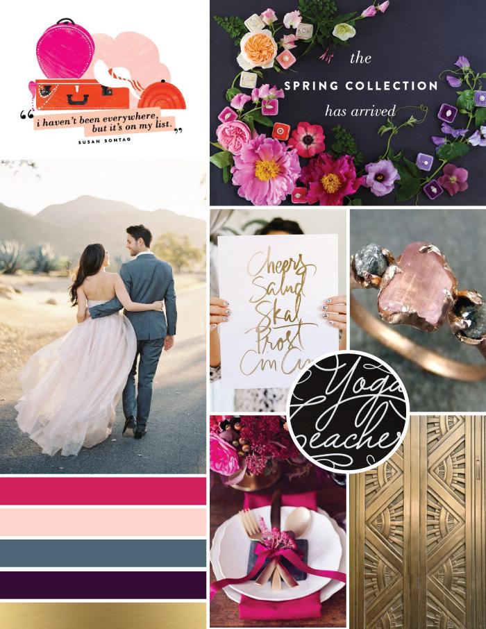 Rich Glam Jewel Tones Mood Board | Magnoliahouse Creative