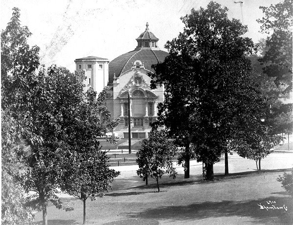 Early photograph of Highlands c. 1910 taken from the front yard of Robert S. Munger's home across the street.