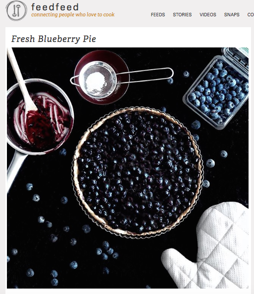 Recipe Feature: Fresh Blueberry Pie  - via The Feed Feed