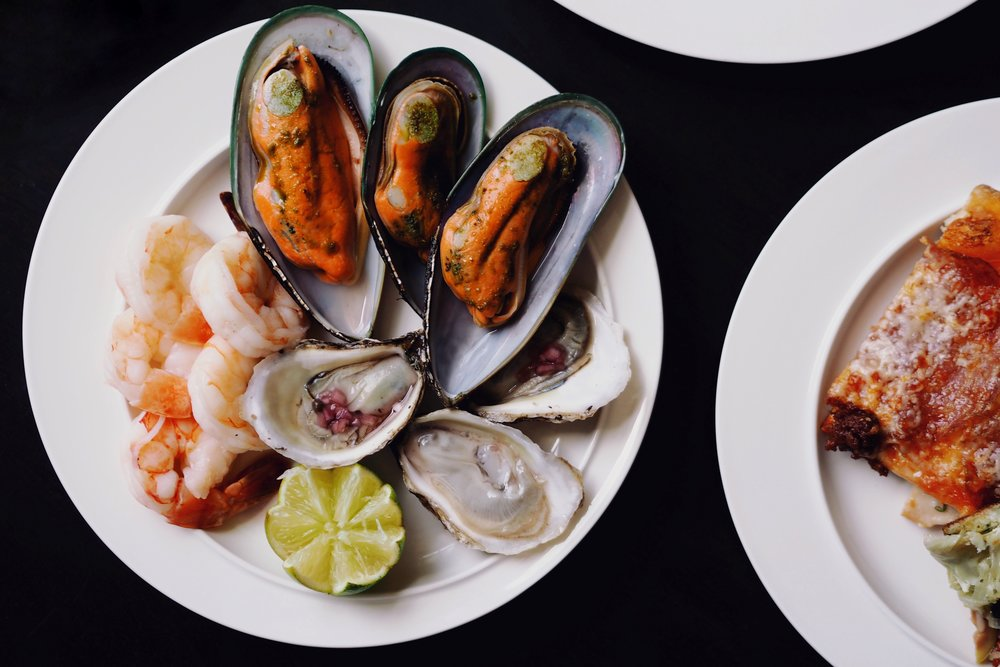 Shrimp, Mussels, Oysters