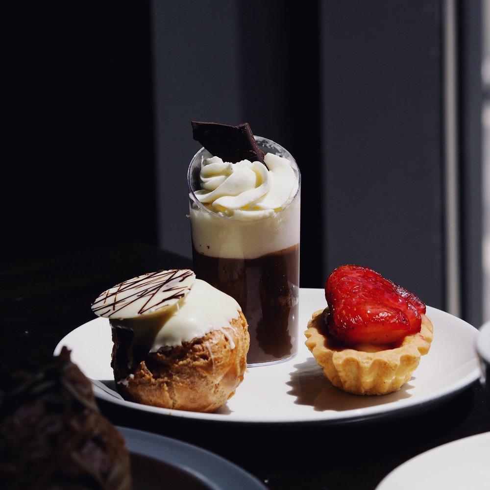 Cream Puff, Tiramisu, Strawberry Tart