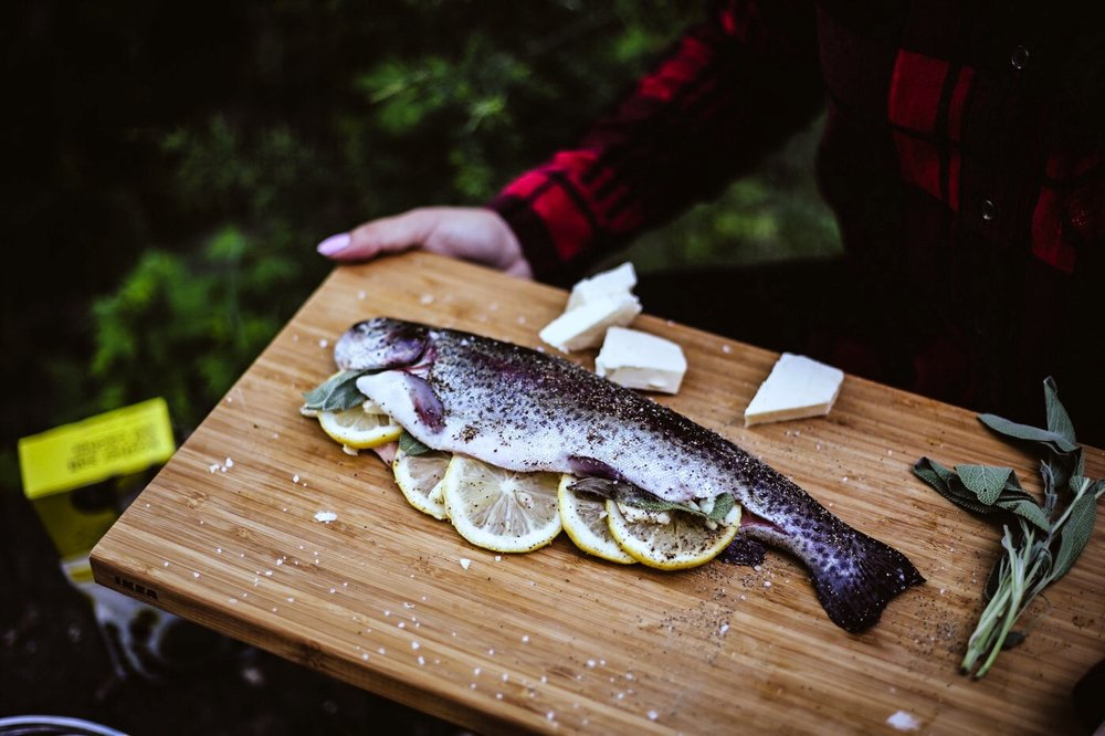 Rainbow Trout ready to hit the pan (Photo captured by  @ajfernando )