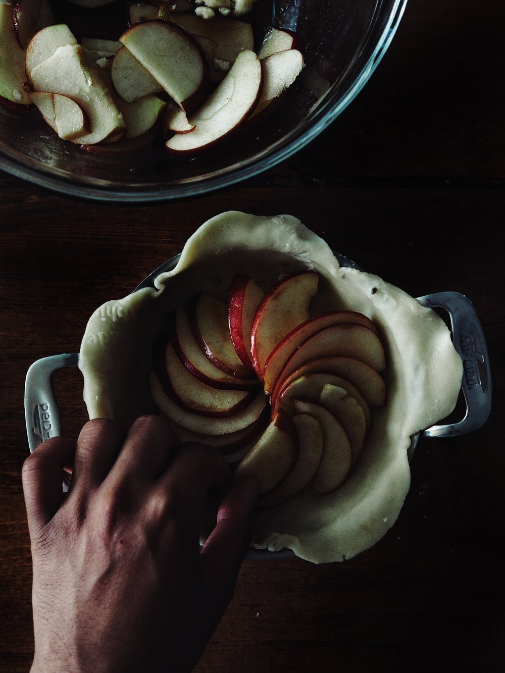 Assembling my individual Apple Galettes