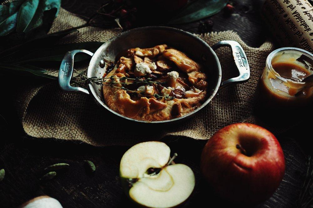 Apple-Galette-Cardamom-Whisky-Caramel-Sauce