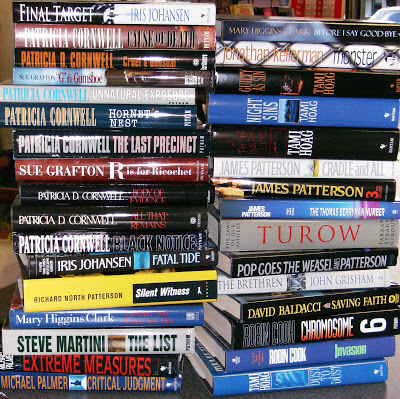 Specific Authors that are loved: James Patterson, Stephen King, Dean Koontz, Clive Cussler, Tom Clancy, Patricia Highsmith, Dan Brown, Robert Ludlum, John le Carré, Mary Higgins Clark, Michael Crichton, Gillian Flynn.