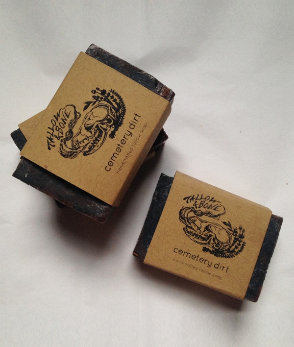 Cemetery Dirt soap $8