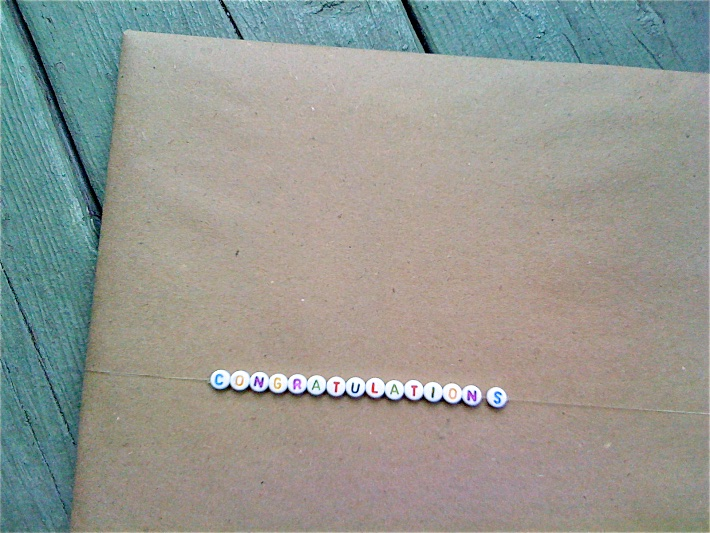 Say It with Beads: Beaded message gift wrapping | CorinnaWraps.wordpress.com