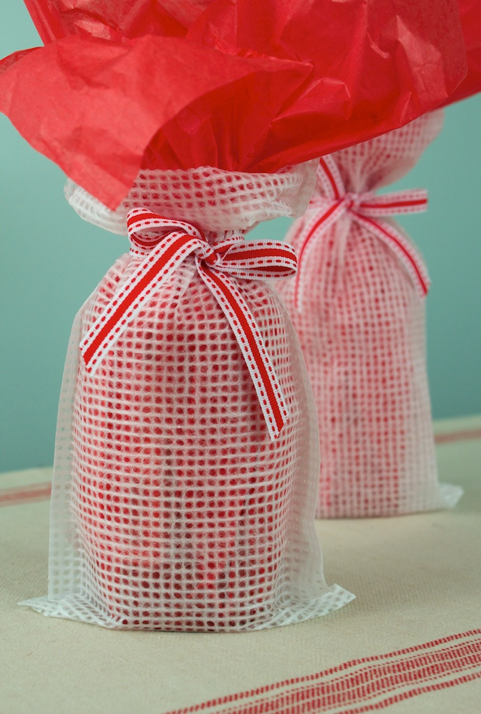 Grid watermark tissue Wine Bags