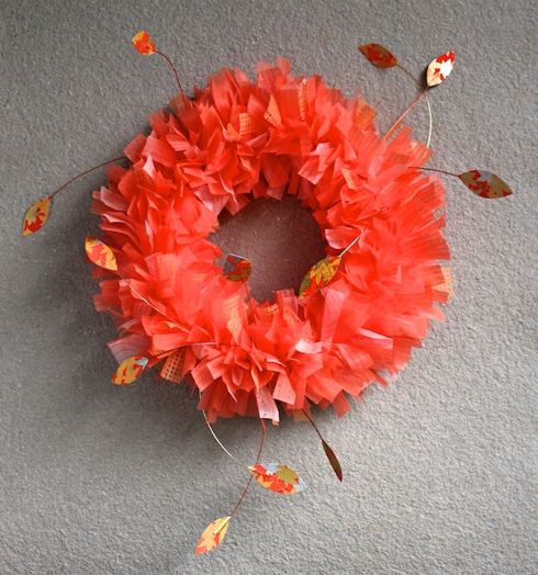 Autumn Paper Wreath