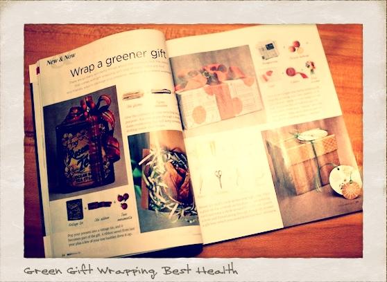 Green Gift Wrapping Story by Corinna vanGerwen in Best Health, Dec. 2011