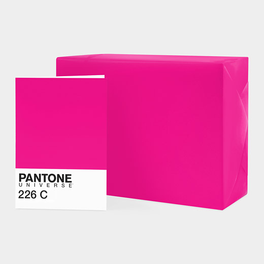 Pantone Set of Gift wrap and Notecard – Fuchsia_226C