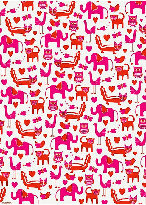 Valentine's Animals Gift Wrap from Paper Source