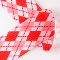 Red and pink argyle ribbon from Ribbons and Bows Oh My!