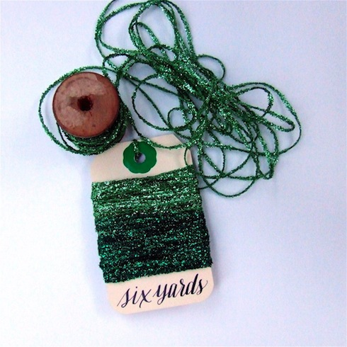 Emerald Tinsel String from K is for Calligraphy on Etsy