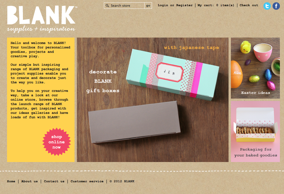 Blank Supplies and Inspiration (Homepage)