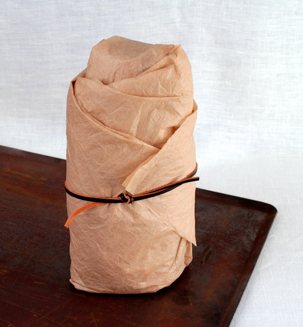 Bourbon in Tissue with Leather Tie