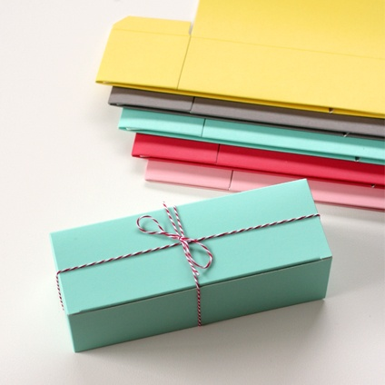 Coloured Gift Boxes from Blank