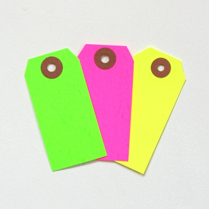 Neon Hang Tags from Blank