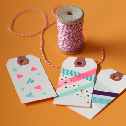 Washi Tape Tags, Blank