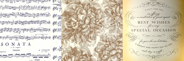 Wedding Wrapping Papers: Antique Style