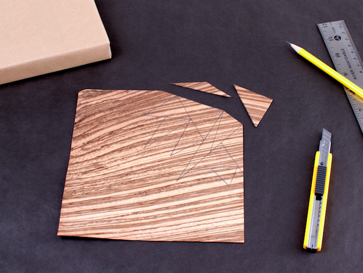 Zebrawood Veneer Gift Decoration, in Progress