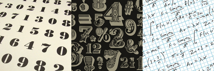 ABC/123 Wrapping Papers: Numerology