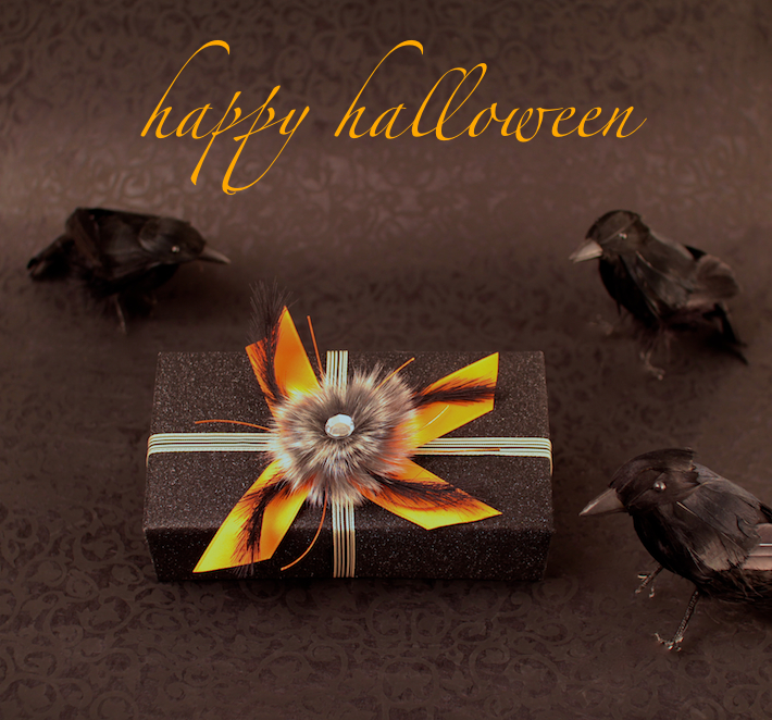 Halloween gift wrapping