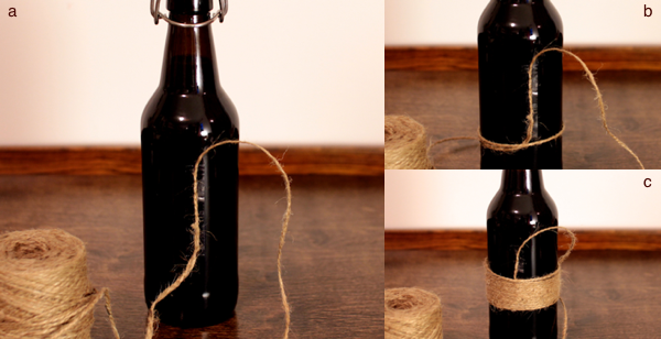 Jute-Wrapped Bottle, step 3