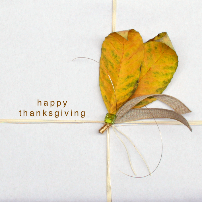 Thanksgiving Leaves gift wrapping