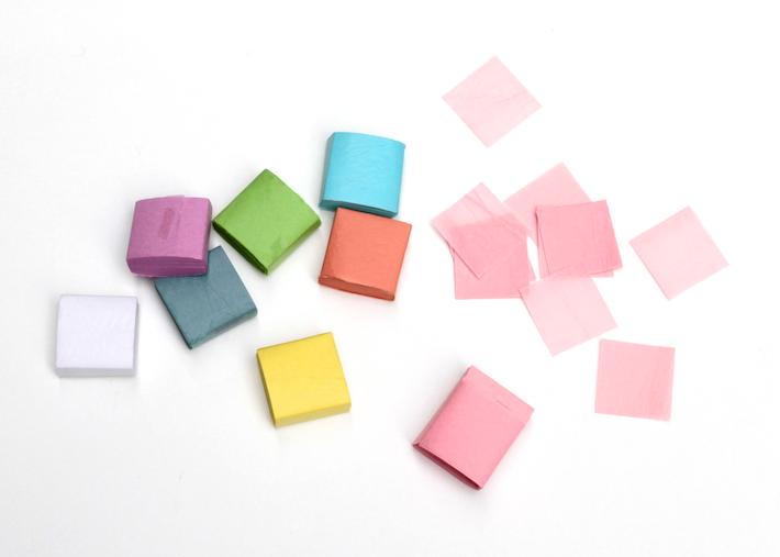 Tissue-paper squares