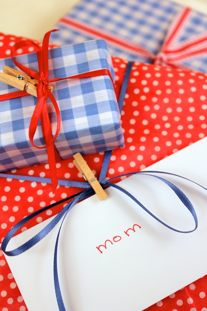 Polka-dot and gingham gifts