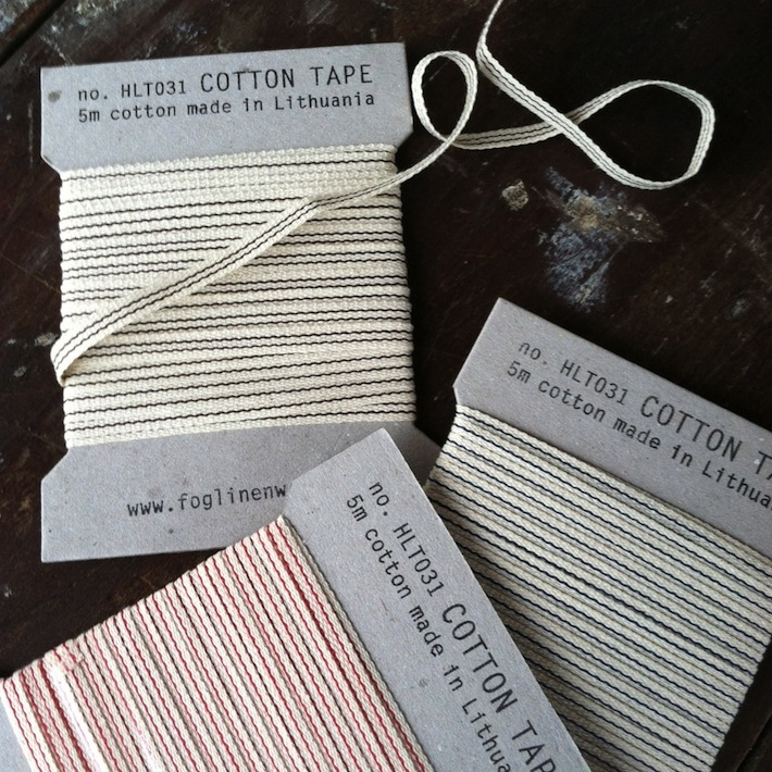 Striped cotton tape (ribbon) by Fog Linen