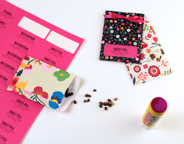 DIY Seed Packets (steps 4 & 5) | Corinna Wraps
