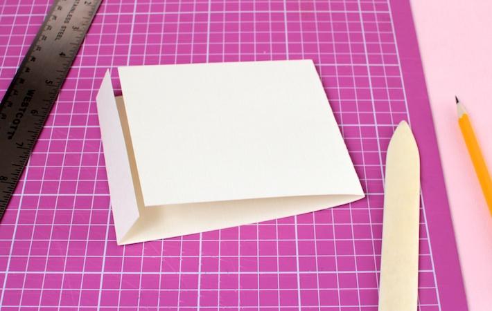 DIY peekaboo Matchbook Valentine (step 2) | CorinnaWraps.com
