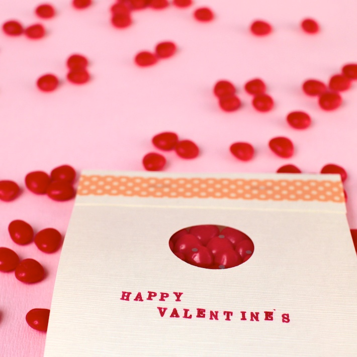 DIY peekaboo Matchbook Valentine | CorinnaWraps.com