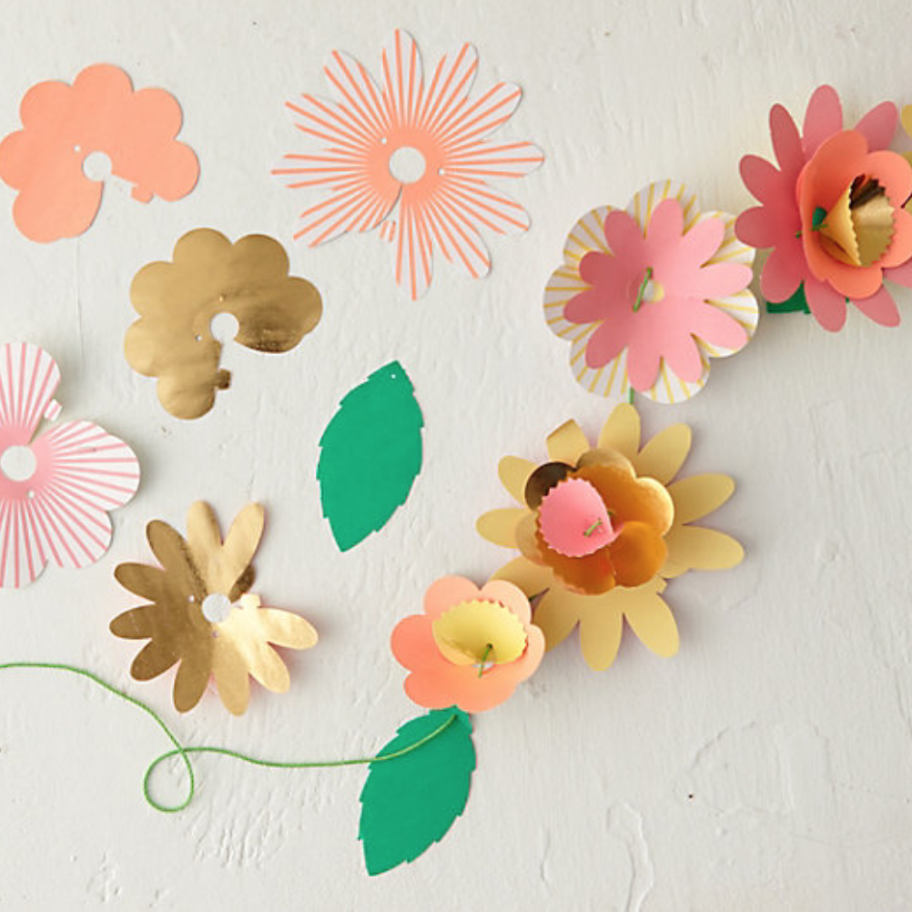Paper flower garland from Terrain-1
