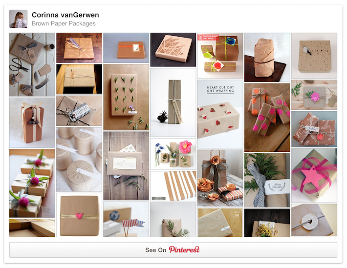 Brown Paper Packages | Follow Corinna vanGerwen's board on Pinterest