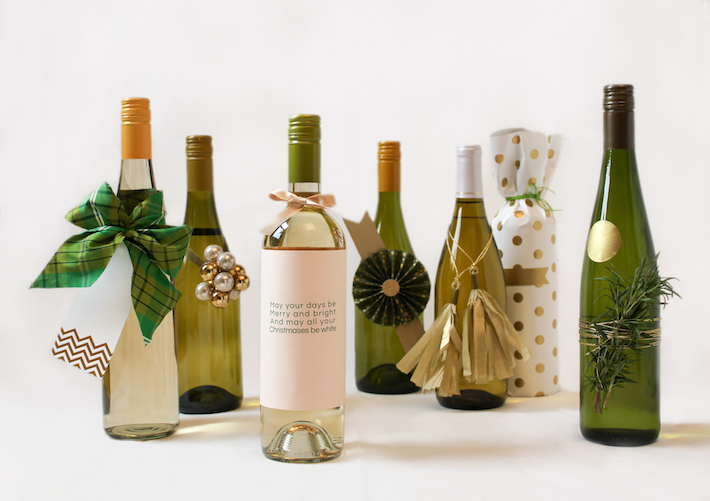 7 Festive Ways to Wrap Wine | CorinnaWraps.wordpress.com