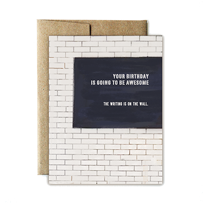 Writing on the Wall Birthday Card