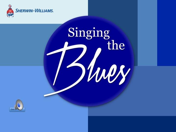 Sherwin-Williams CEU – Singing the Blues